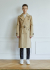운무(WOONMU) DETACHABLE SLEEVE TRENCH COAT_BEIGE