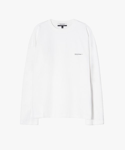 피스워커(PIECE WORKER) Oversize Logo Tee - Off White