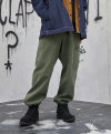 Pigment Dyed Wide Cargo Pants