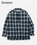 커버낫(COVERNAT) TARTAN CHECK PULLOVER SHIRTS GREEN