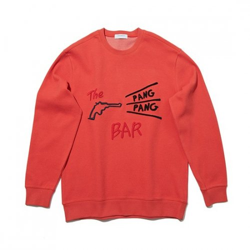 커스텀멜로우(CUSTOMELLOW) texture embroidery sweat shirt_CWTAS19173ORX