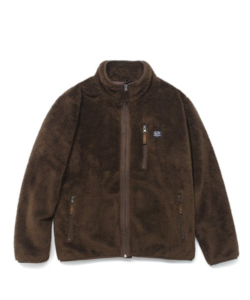 프룻오브더룸(FRUIT OF THE LOOM) BOA FLEECE JACKET BROWN