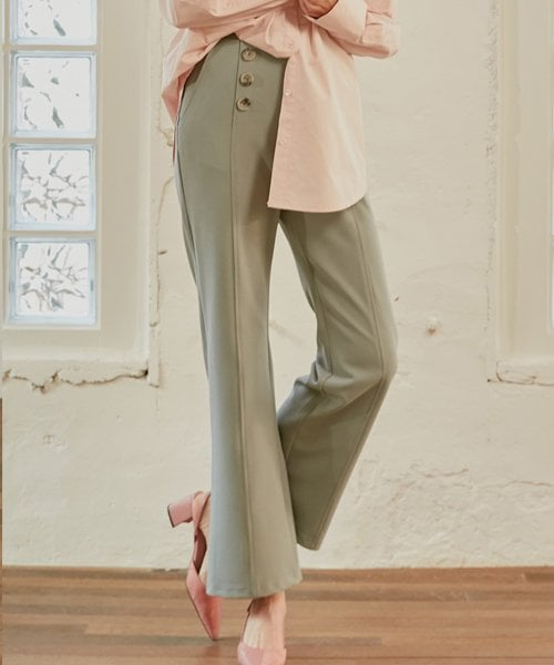 몬츠(MONTS) 853 button slacks (light blue)