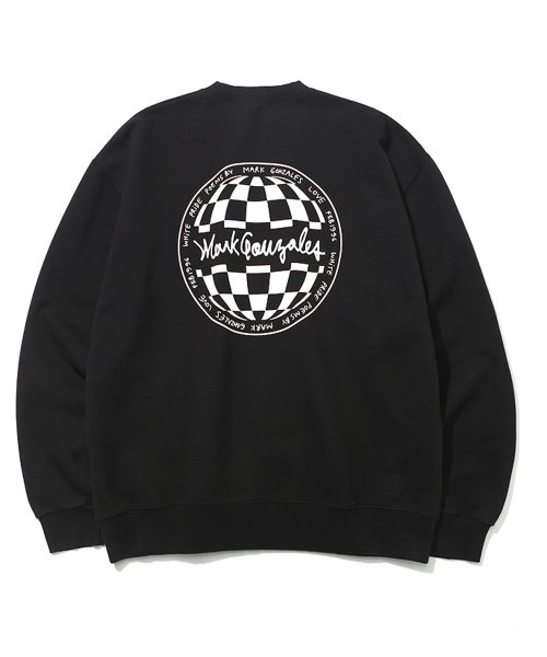 마크 곤잘레스(MARK GONZALES) M/G CIRCLE LOGO CREWNECK  BLACK