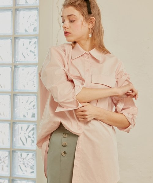 몬츠(MONTS) 876 Big pocket shirts (pink)