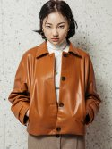 스페로네(SPERONE) LAMB SKIN SHORT LEATHER JACKET [BROWN]