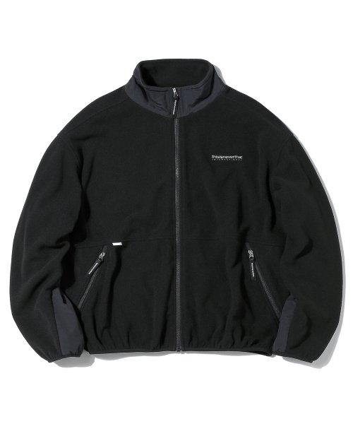 디스이즈네버댓(THISISNEVERTHAT) INTL. Fleece Jacket Black