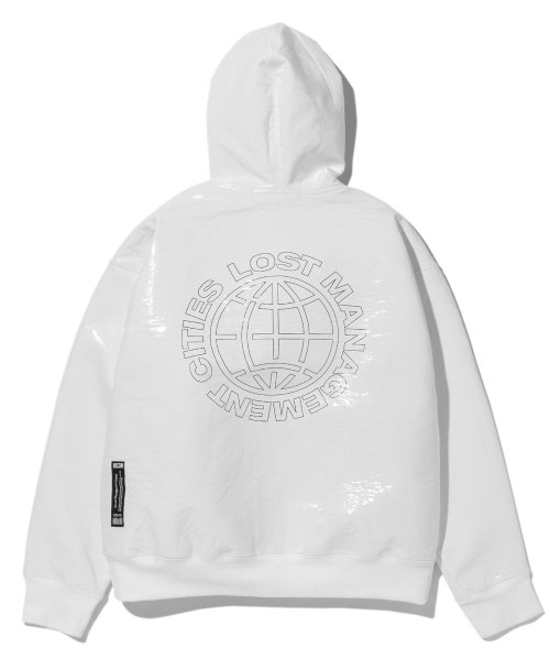 엘엠씨(LMC) LMC PVC SWEAT ZIP-UP HOODIE white