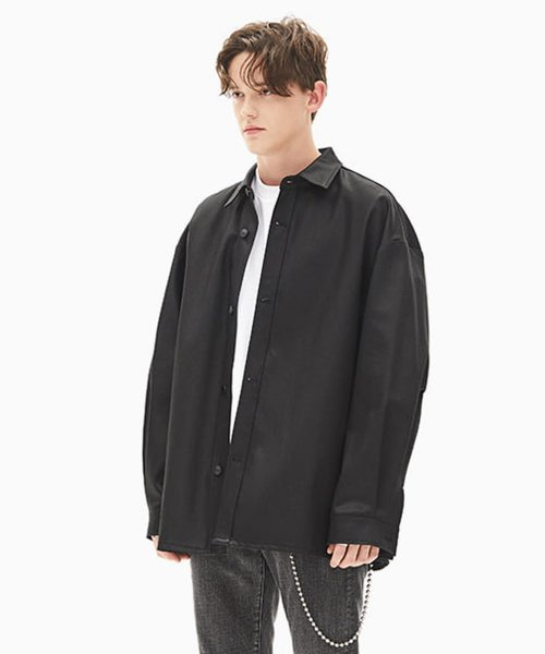 메종미네드(MAISON MINED) BLACK DENIM SHIRTS JACKET