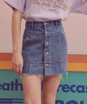 로라로라() (SK-19345) BUTTON DENIM SKIRT BLUE