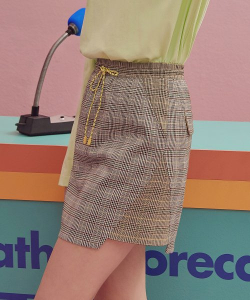 로라로라(ROLAROLA) (SK-19145) PANELLED CHECK SKIRT MULTI