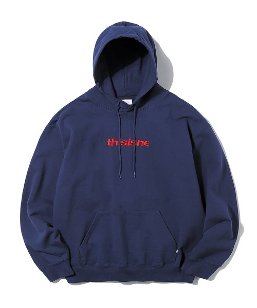 디스이즈네버댓(THISISNEVERTHAT) HSP Hooded Sweatshirt Navy