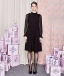 더케이스토리(THEKSTORY) Dot See Through Dress_Black