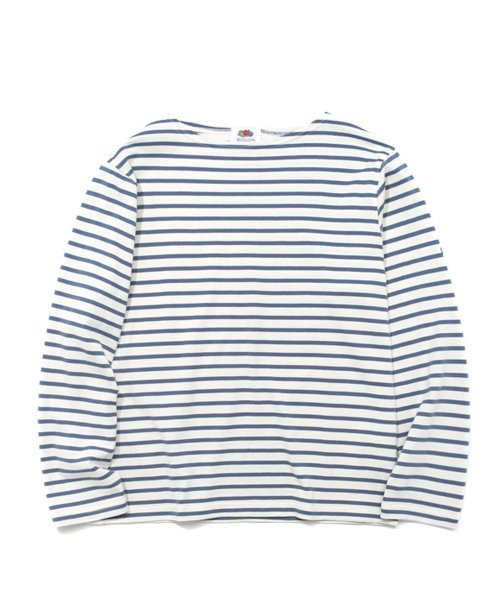 프룻오브더룸(FRUIT OF THE LOOM) L/S STRIPE BOAT NECK BLUE