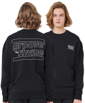 그루브라임(GROOVE RHYME) OVER FIT BACK BIG LOGO MTM (BLACK) [GMT001H13BK]