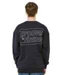 그루브라임(GROOVE RHYME) OVER FIT BACK BIG LOGO MTM (NAVY) [GMT001H13NA]