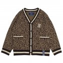로맨틱크라운(ROMANTIC CROWN) Leopard Knit Cardigan_Brown