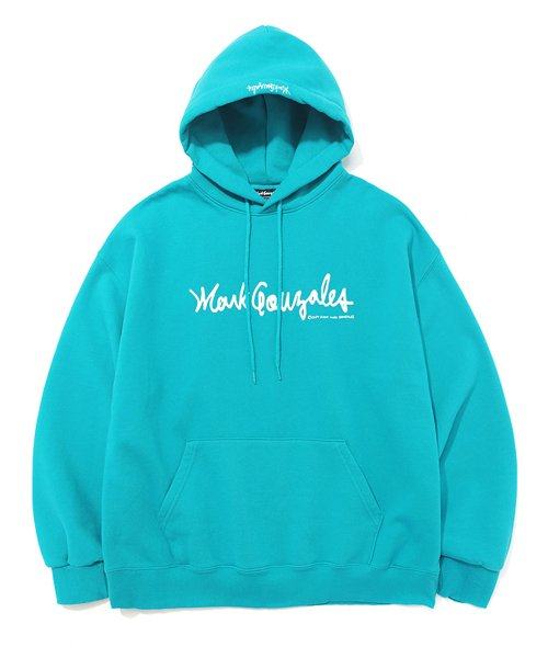 마크 곤잘레스(MARK GONZALES) MARK GONZALES SIGN LOGO HOODIE MINT