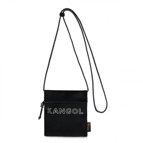 캉골(KANGOL) Font mini Sacoche Bag 3075 BLACK
