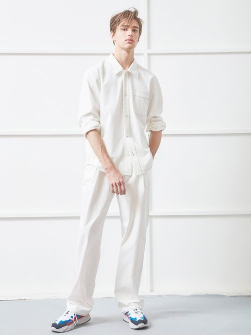 노앙(NOHANT) DETACHABLE SHIRT-PANTS SET WHITE