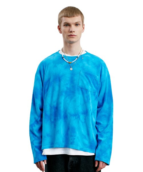 라이풀(LIFUL) TIE DYE TERRY L/S TEE blue