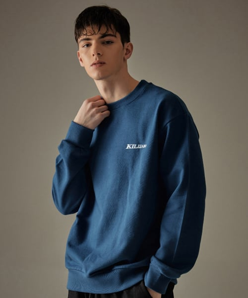 킬리자로(KILIJARO) DIMENSION LOGO SWEATSHIRT - DEEP BLUE