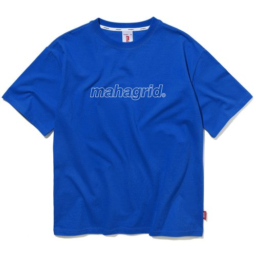 마하그리드(MAHAGRID) OUTLINE LOGO TEE BLUE(MG1JMMT508A)