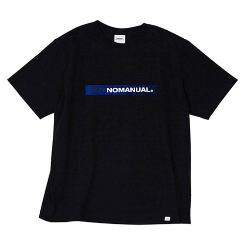 노매뉴얼(NOMANUAL) BUY NOMANUAL T-SHIRT - BLACK