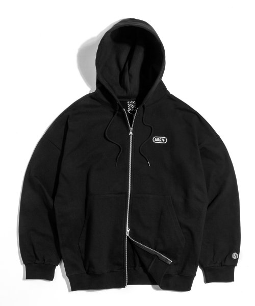어반스터프(URBANSTOFF) USF Heavy Hoodie Zip Up Black