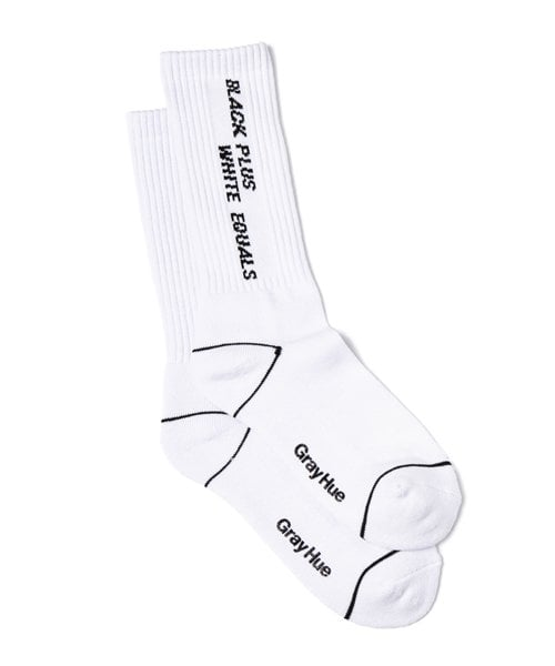 그레이휴(GRAY HUE) Logo Socks White G9S2A605_10