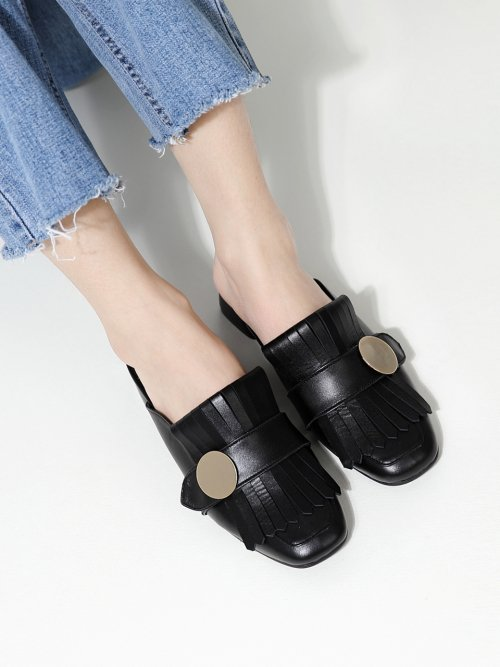 레이브업(RAVE UP) Merry U Backless Loafer Black_0047