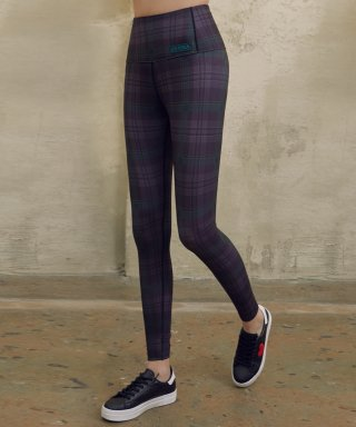 로라로라(ROLAROLA) (LS-19165) CHECK LEGGINGS DEEP GREEN