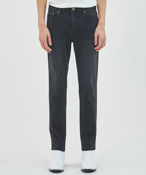 더 티셔츠 뮤지엄(THE T-SHIRT MUSEUM) 19ss black washed slim jeans