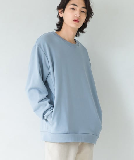 퍼스트플로어(FIRSTFLOOR) 247 MINIMAL SWEATSHIRT (BLUE GRAY)