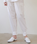 앳퍼스트사이트(AT FIRST SIGHT) POCKET PIN TUCK PANTS_WH