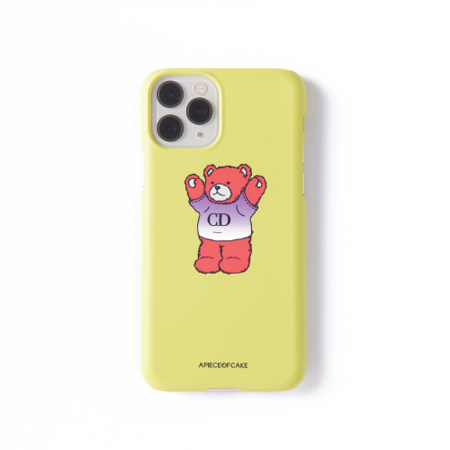 어피스오브케이크(APOC) CD Bear Phone Case_Lime