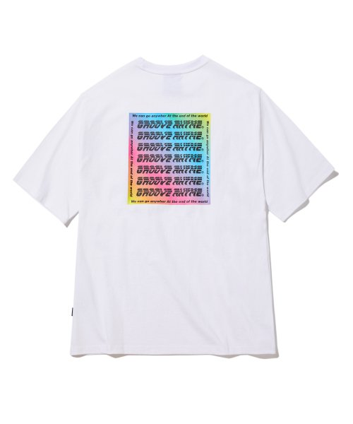 그루브라임(GROOVE RHYME) COLOR LOGO PRINT OVER FIT T-SHIRTS (WHITE) [GTS008H23WH]