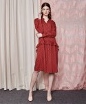 더케이스토리(THEKSTORY) Shirts style frill Dress_RED