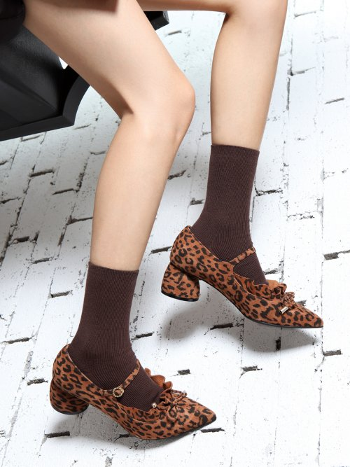 레이브업(RAVE UP) Its Adorable Mary Jane Suede Leopard Brown_0051