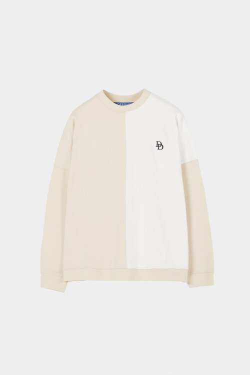 드퐁(DEFOND) CONSONANCE SLEEVES T-SHIRT-IVORY