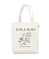 M/G BROKEN SKATEBOARD DRAWING ECO BAG IVORY