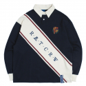 로맨틱크라운(ROMANTIC CROWN) Logo Line Polo Shirt_Navy