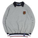 로맨틱크라운(ROMANTIC CROWN) E.D.V Collar Crew Neck_Grey