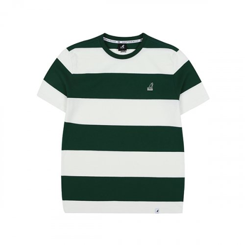 캉골(KANGOL) Rugby Stripe T-shirts 2571 GREEN