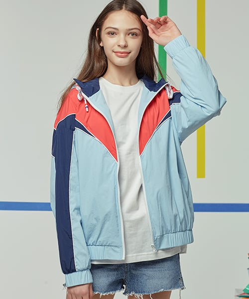 모티브스트릿(MOTIVESTREET) NEWTRO COLOR LINE TRACK JACKET SKYBLUE