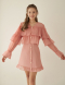 FRILL RIBBON DRESS - PINK
