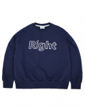 라잇루트(RIGHT ROUTE) RR SWEATSHIRT NAVY [표예나]