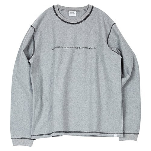 노매뉴얼(NOMANUAL) NM REVERSED LONG SLEEVE TEE - MELANGE