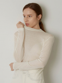 디오라(THE ORA) TENCEL WOOL T-SHIRTS (IVORY)