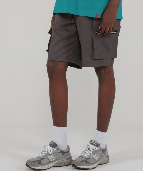 테이크이지(TAKEASY) BULLETPROOF CARGO SHORT (GREY)